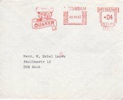 03 VII 63   Roodfrankering Rotterdam Op Envelop Met Transormaletters Naar Den Haag - Postal History