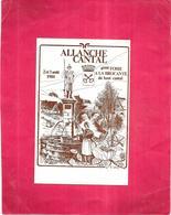 ALLANCHE - 15 - 4ème Foire BROCANTE Du Haut Cantal Des 2 Et 3 Août 1980  - N°2103/3000 - VIS - - Allanche