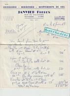 Vieux  Papier : Calvados : VIRE : Droguerie-miroiterie   , 2  Feuilles - Ohne Zuordnung