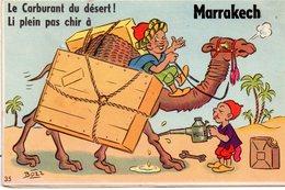 Carte à SYSTEME De MARRAKECH - Le Carburant Du Désert. - Marrakech