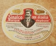 Etiquette Lithographie SINALCO Non Alcoolisé Getränkeetikett  Alkoholfrei Franz Hartmann DETMOLD Sanatorium BILZ 1904/06 - Etiquettes