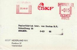 25 VII  67   Roodfrankering  Veenendaal Op Briefkaart Met Firmalogo Naar Swalmen - Postal History