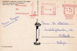 15 VIII  67   Roodfrankering  Rotterdam Op Ansicht  Met Firmalogo Naar Dilbeek Belgié - Postal History