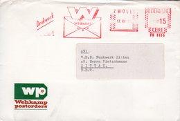 17 VIII  67   Roodfrankering  Zwolle Op Envelop Met Firmalogo Naar Zittau D.D.R. - Poststempel