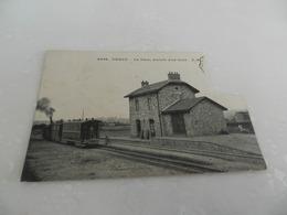Cp   Abimé    Manque Un Morceau   ( 2 Cm  Sur 3,6 Cm De Haut  )  Cergy  La Gare  , Arrivéé D Un  Train - Cergy Pontoise