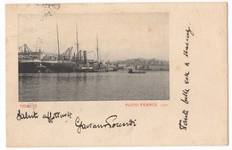 Cartolina-Postcard, Viaggiata (sent) - Trieste, Punto Franco - Trieste