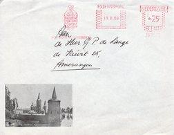 19 III 69   Roodfrankering  Hoensbroek Op Geïllustreerde Envelop Naar Amerongen - Postal History