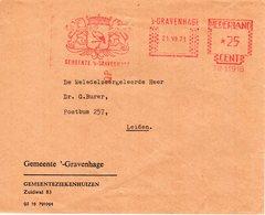 21 VII 71   Roodfrankering  's-Gravenhage Op Envelop Met Firmalogo En Transormaletters Naar Leiden - Postal History