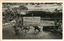 080420 - CARTE PHOTO REPORTAGE BOUGEROL ARPAJON 91 - Militaria Guerre 39 45 Attention Aux Mines - Arpajon