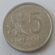 5 Guaranies 1975 - Superbe - - Paraguay