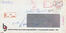 15 VI 73   Roodfrankering  ZEIST Op Aangetekende Vensterenvelop Met Firmalogo Naar Bennekom En Retourgezonden - Postal History