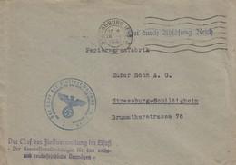 "Env ""Frei Durch Ablösung Reich"" Obl OMEC STRASSBURG (ELS) 2 Du 26 IV 1941 Adressée à Schiltigheim - Covers & Documents"