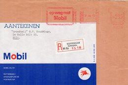 23 VIII 73   Roodfrankering  Rotterdam  Op Aangetekend Voorfront Met Firmalogo Naar Bilt - Postal History