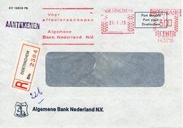 27 I 75 Roodfrankering  DOETINCHEM Op Aangetekende  Vensterenvelop - Postal History
