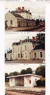 16 / LA ROCHEFOUCAULD / 3  PHOTO VERITABLE GARE 1985 / MICHELINE - Autres Communes