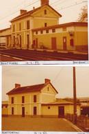 16 / MONTMOREAU / 2 PHOTO VERITABLE GARE 1982 - Autres Communes