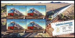 Australia 2020 Canberra Stampshow Transcontinental Railway Minisheet MNH - Nuovi