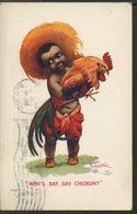 CHICKEN. Carte Des USA 1905. Joli COQ - Elevage