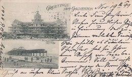 Greetings From Galveston, 1899. Beach Hotel, Surf View. (Texas). - Galveston