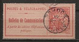 FRANCE:, Obl., TELEPHONES N° YT 18, TB - Telegraphie Und Telefon