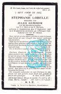 DP Stephanie Lobelle ° OostVleteren 1865 † WestVleteren 1930 X Jules Gombeir - Santini