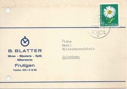 "Motiv Karte  ""Blatter, Bijouterie, Frutigen""          1963 - Brieven En Documenten"
