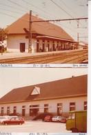 21 /  BEAUNE / 2 PHOTO VERITABLE GARE 1982 / FIAT 500 § 104 / R6 / ... - Beaune