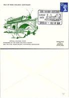COVER TRAINS ISLE OF MAN - DOUGLAS 1.7.1973  RAILWAY CENTENARY / 1 - Treinen