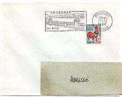 GIRONDE - Dépt N° 33 = PODENSAC 1966 = FLAMME Non Codée / Dernier Jour  = SECAP Illustrée ' SITE / Vins De Graves ' - Postmark Collection (Covers)