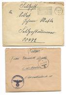 Lettres Marine Artillerie Abteilung 280, SAINT-NAZAIRE, 1940, Voir Descriptif Et Photo - Marcophilie (Lettres)