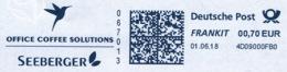 Freistempel 8619 Seeberger Kolibri Vogel - Marcophilie - EMA (Empreintes Machines)