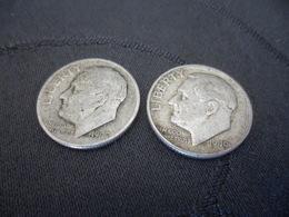 One Dime Lots 2 Pieces 1947 1949 - Etats-Unis