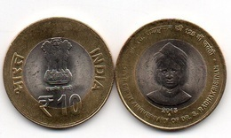 India - 10 Rupees 2015 AUNC / XF+ Radhakrishnan Lemberg-Zp - India