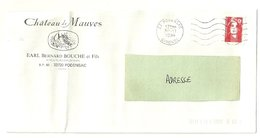 GIRONDE - Dépt N° 33 = PODENSAC 1994 = FLAMME à DROITE = SECAP Muette '5 Lignes Ondulées' + CHATEAU MAUVES - Postmark Collection (Covers)