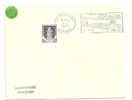 GIRONDE - Dépt N° 33 = PODENSAC 1971 = FLAMME Codée à DROITE = SECAP Illustrée ' SITE / Vins De Graves ' - Postmark Collection (Covers)