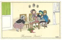 Cpa Illustrateur Signée Ebner - Heureuse Année ( état )  ( ILL ) - Ebner, Pauli
