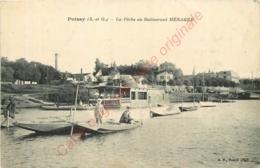 78.  POISSY .  La Pêche Au Restaurant MENAGER . - Poissy