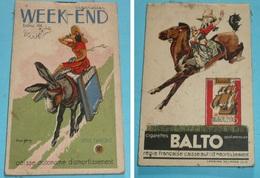 Rare Carnet Calepin Publicitaire Illustré Franck Fresch Vincent BALTO WEEK-END Cigarettes Tabac, Café Bistrot épicerie - Documentos
