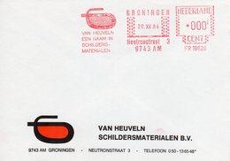 20 XII 84   Roodfrankering 000 Stand  Groningen Op Envelop Met Firmalogo - Postal History