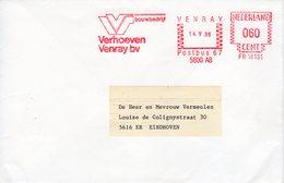 14 V 86 Roodfrankering Venray  Op Envelop Naar Eindhoven - Postal History