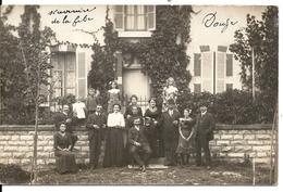 CARTE PHOTO FAMILLE DEVANT VILLA - Dijon