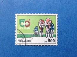 1967 ITALIA FRANCOBOLLO USATO ITALY STAMP USED CICLISMO GIRO D'ITALIA 500 LIRE - 6. 1946-.. Repubblica