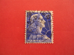 """1955  Oblitéré     N°  1011  B  """" MARIANNE DE MULLER,  20F BLEU  """"    Net  0.30   Photo  4 - 1955- Marianne De Muller"""
