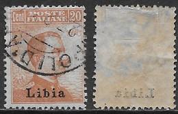 Italia Italy 1918 Colonie Libia Michetti Destra C20 Decalco Soprastampa Sa N.20 US - Libië