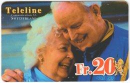 SWITZERLAND D-063 Prepaid Teleline - People, Couple - Used - Schweiz