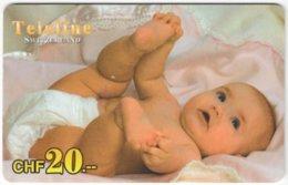 SWITZERLAND D-147 Prepaid Teleline - People, Child - Used - Schweiz