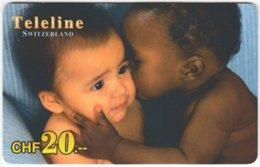 SWITZERLAND D-150 Prepaid Teleline - People, Child - Used - Schweiz