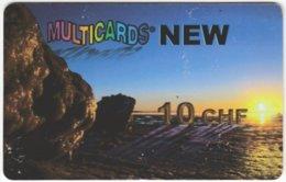 SWITZERLAND D-162 Prepaid Multicards - Landscape, Sunset - Used - Schweiz