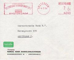 4 II 54    Roodfrankering Amsterdam N290 7  Ct  Op Envelop Met Firmalogo Verzonden Binnen Amsterdam - Postal History