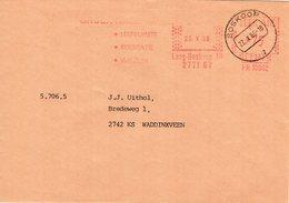 23 X 86    Roodfrankering  Boskoop Op Envelop Naar Waddinxveen Met Zwart Dagtekeningstempel - Postal History